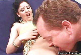 Nasty Arab whore gets her pussy licked part3